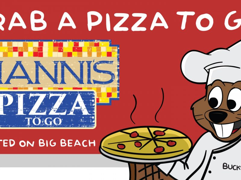 Bucky Beaver Gianni's Pizza Lanier Islands
