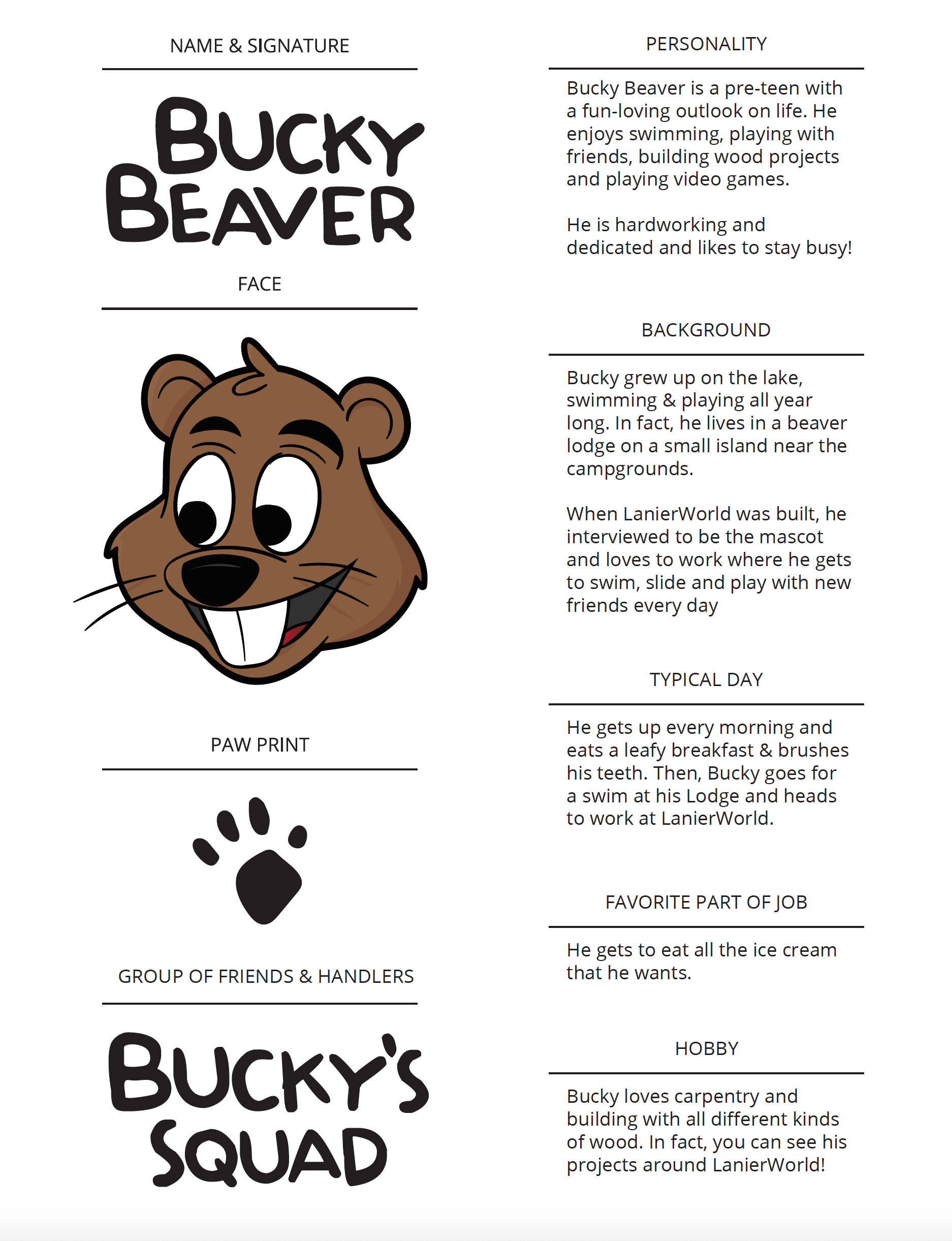Bucky Beaver Brand