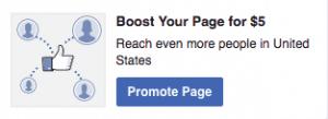 Promote Facebook Page