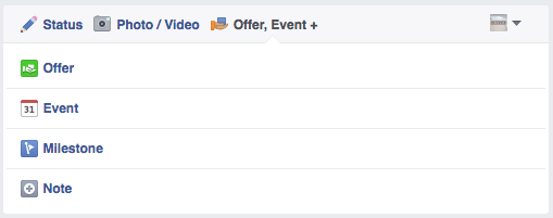 Promote facebook offers & events