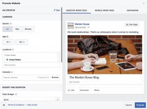 Promote Website Facebook