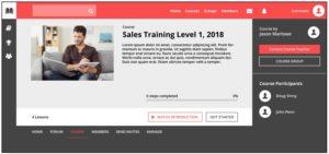 sample custom training website